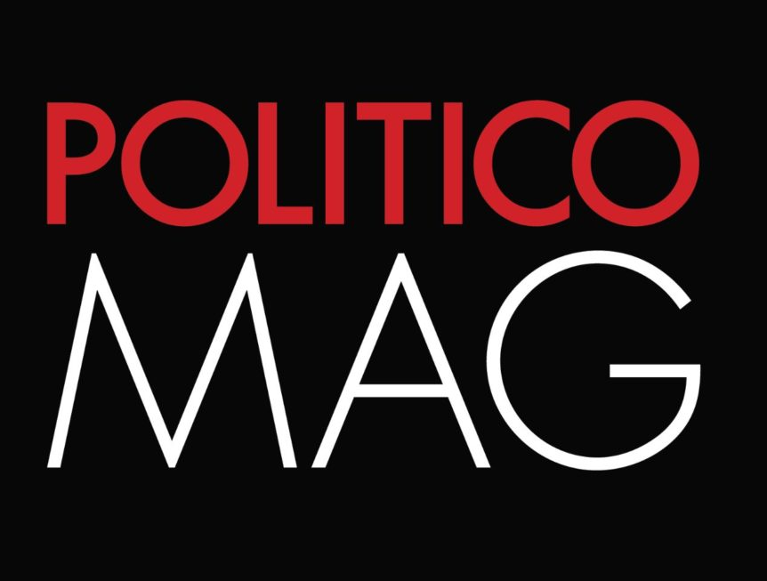 Logo of Politico Magazine, the source of the redistricting story featuring Blake